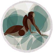 Music Of The Spheres #1 Round Beach Towel