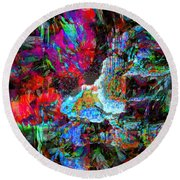 Musical Fountain Round Beach Towel