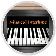 Musical Interlude Round Beach Towel