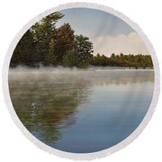 Muskoka Morning Mist Round Beach Towel