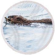Muskrat Spring Swim Round Beach Towel