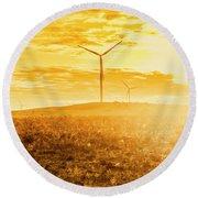 Musselroe Wind Farm Round Beach Towel