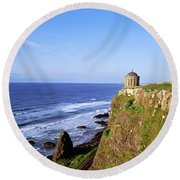Mussenden Temple, Portstewart, Co Round Beach Towel