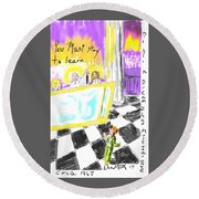 Must I Stay? Round Beach Towel