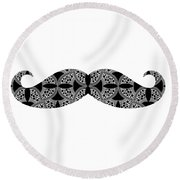 Mustache Tee Round Beach Towel