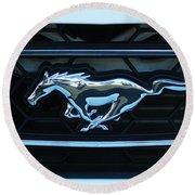 Mustang Emblem Round Beach Towel