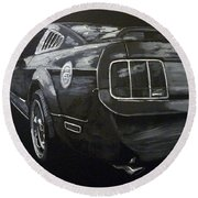 Mustang Rear Round Beach Towel