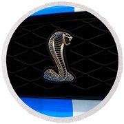 Mustang Shelby Logo Round Beach Towel