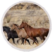 Mustang Trio Round Beach Towel