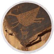 Mv Petroglyph 7364 Round Beach Towel