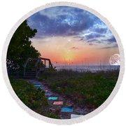 My Atlantic Dream Round Beach Towel