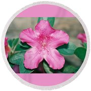 My Azalea Round Beach Towel
