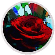 My Birthday Rose Round Beach Towel