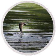 Cormorant - My Catch For The Day Round Beach Towel