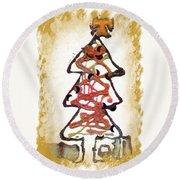 My Christmas Tree Round Beach Towel