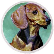 My Daschund Round Beach Towel