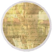 My Dear John Round Beach Towel
