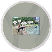 My Dog Tiny Round Beach Towel