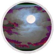 My Dream Moon Moonshine Sky Round Beach Towel