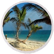 My Favorite Beach Round Beach Towel