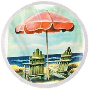 My Favorite Secret Beach Spot Round Beach Towel