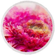My Favourite Abstract Round Beach Towel