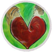 My Funny Valentine Round Beach Towel by Donna Blackhall