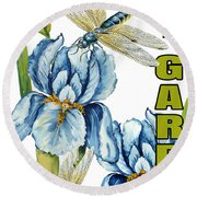My Garden-jp2829 Round Beach Towel