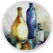 My Glass Collection Iv Round Beach Towel