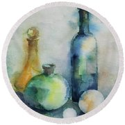 My Glass Collection V Round Beach Towel