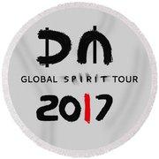My Global Spirit Tour 2017 - Black Round Beach Towel