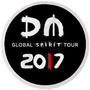 My Global Spirit Tour 2017 - White Round Beach Towel