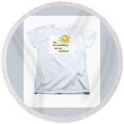 My Grand Childrent-shirt Round Beach Towel