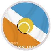 My Grand Slam 01 Australian Open 2017 Minimal Poster Round Beach Towel