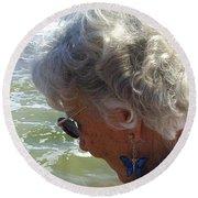 My Grandmother Round Beach Towel