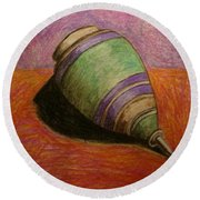 My Green Trompo Round Beach Towel