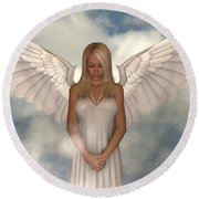 My Guardian Round Beach Towel by Alexander Butler