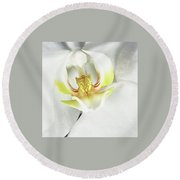 My Inner Orchid Round Beach Towel