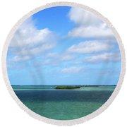 My Island In The Sand Round Beach Towel