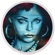 My Lady ... Round Beach Towel