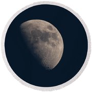 My Moon Of 25 March 2018 Round Beach Towel