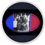 My Mother And Her Family Virginia Minnesota Circa 1919 Round Beach Towel