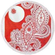 My Name Is Red Round Beach Towel