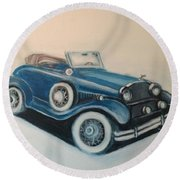 My Ride 2 Round Beach Towel