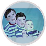 My Three Sons Round Beach Towel