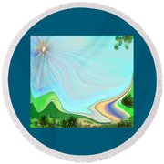 My Valley Home Round Beach Towel