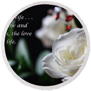 For My Wife - Expressions Of Love Round Beach Towel