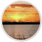 Myakka Sunset Round Beach Towel