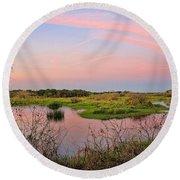 Myakka Wetlands By H H Photography Of Florida Round Beach Towel