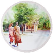 Myanmar Custom_013 Round Beach Towel